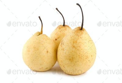 Three pears isolated