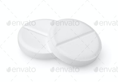Two tablets aspirin Path
