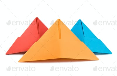 Paper hat isolated