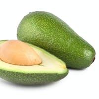Tropical fruit avocado isolated