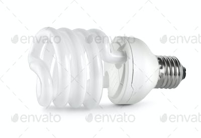 Energy saving  fluorescent lightbulb. Path