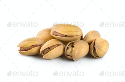 Pistachios isolated