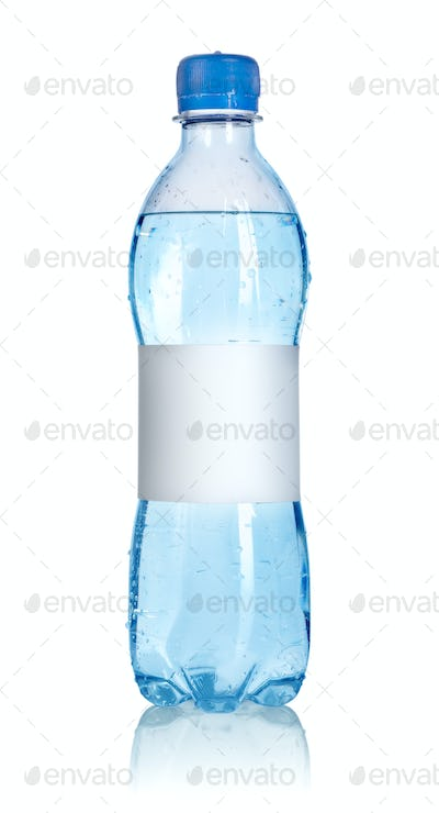 Water bottle with blank label