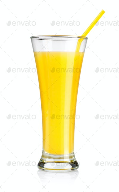 Orange juice isolated