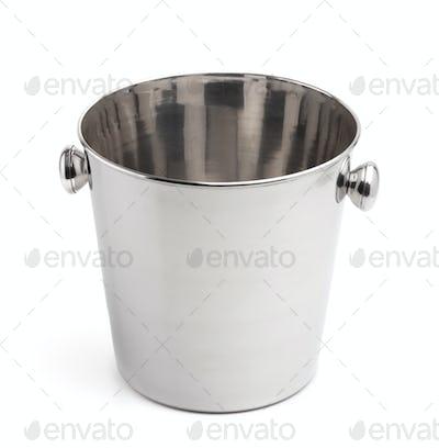 Empty champagne ice bucket