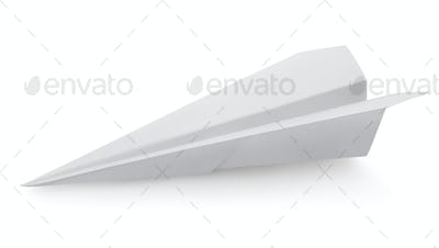 Plane made of a paper