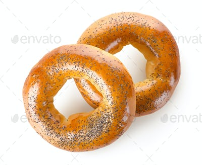 Two bagels and sesame seed