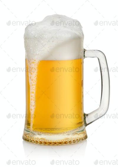 Mug with beer isolated