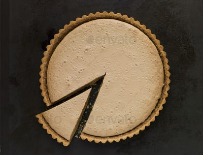 Whole Gypsy Tart with a Slice