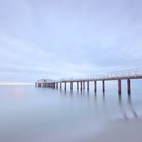 Pier soft water long exposure Lido Camaiore versilia tuscany italy