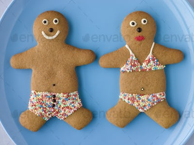 Gingerbread People with Sugar Candy Swimwear