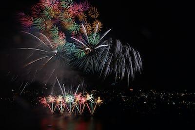 4th of July Fireworks in Boston Massachusetts