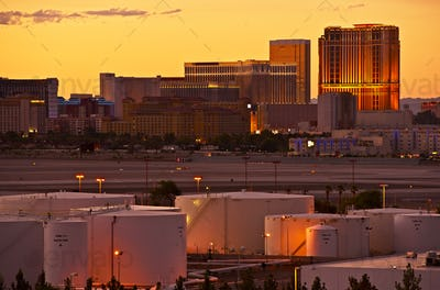 Vegas Strip Sunset