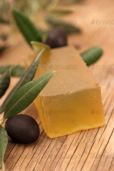 Homemade soap made from olive oil