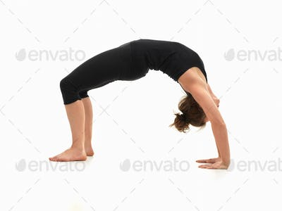 woman demonstrating yoga pose
