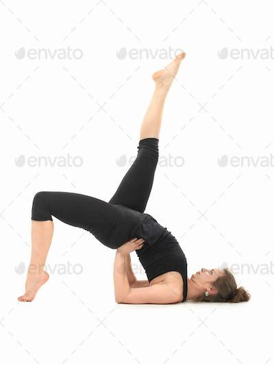difficult yoga posture demonstration