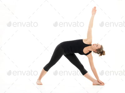 stretching and strength yoga pose