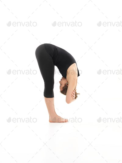 bent forward yoga pose