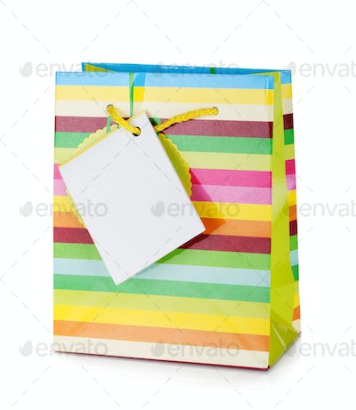Colored gift bag