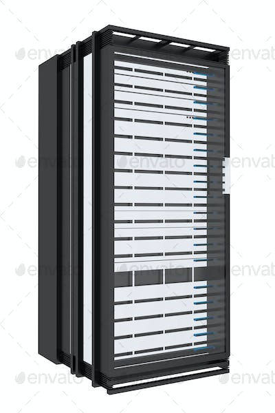 Servers Tower Isolated on White