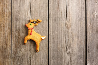 Christmas homemade gingerbread deer cookie