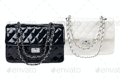 Black and white female bags