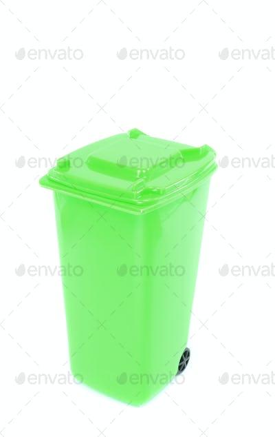 Green Recycling Wheelie Bin