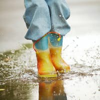 Running down puddles