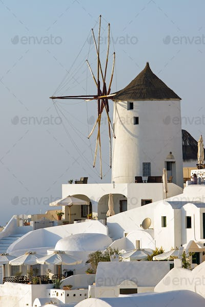 Oias famous windmill