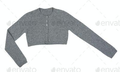 Grey knitted boleros