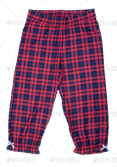 The red plaid pajama pants