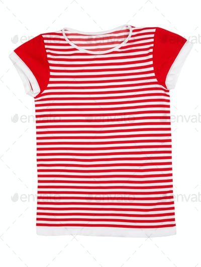 Red and white striped sport shirt