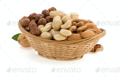 nuts isolated on white