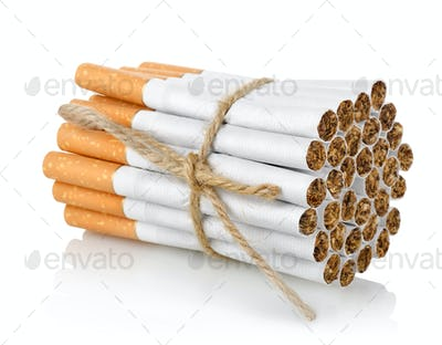 Bunch of cigarettes isolated