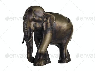 isolated Buddhist Statuette of elephant (clipping path)