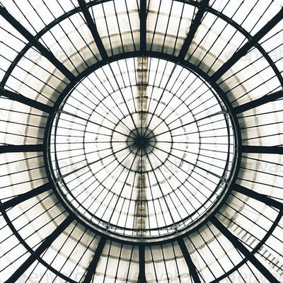 Glass Ceiling Dome pattern, Vittorio Emanuele II Gallery, Milan Italy