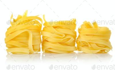 Three pastas tagliatelle