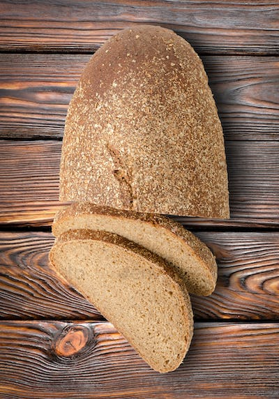 Rye bread on a table