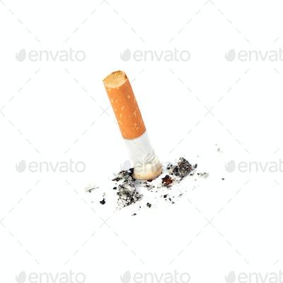Extinguished cigarette