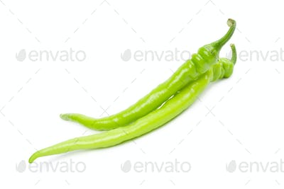 Green hot peppers.