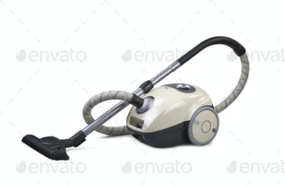 Vacuum cleaner isolated on the white background (CLIPPING PATH)