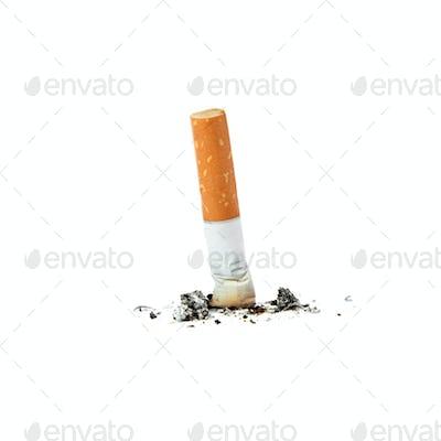 Extinguished cigarette.