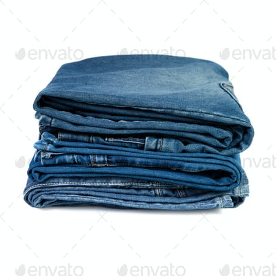 Jeans things stacked stack