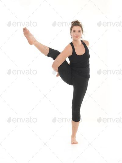 demonstration of advanced yoga pose