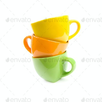 Colored cups.