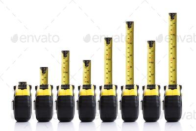 Tape measure bar chart