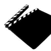 A Blank Movie Clapper Board