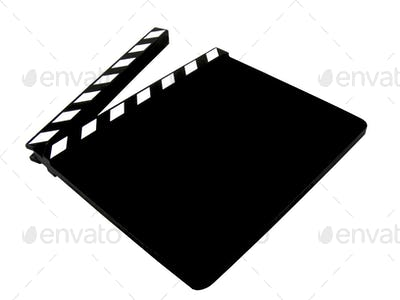 A Blank Movie Clapper Board