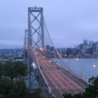 Rush Hour Morning Commute Bay Bridge San Francisco
