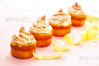 Cupcakes with whipped cream